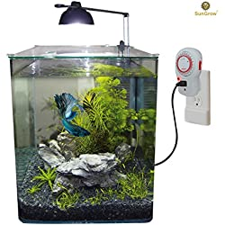 24 Hour Timer for Aquarium Lights by SunGrow: Heavy duty mechanical timer switch: Easy to program with 15 minute Increments: Safe grounded 3 prong outlet: Use for household appliances