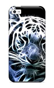 Anti-scratch And Shatterproof White Bengal Tiger Phone Case For Iphone 5c/ High Quality Tpu Case