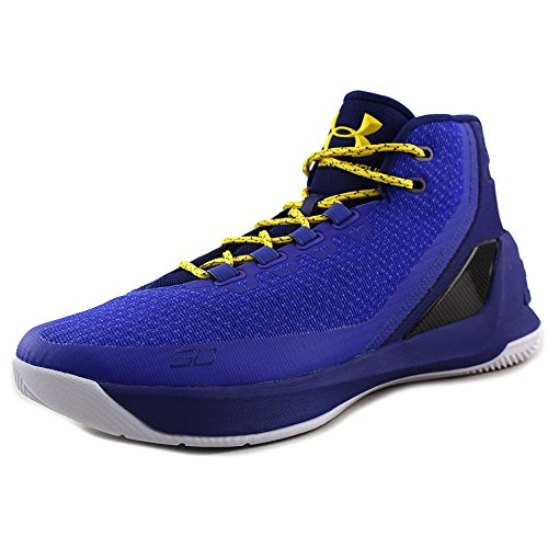 Under Armour UA Curry 3 Mens Hi Top Basketball Trainers 1269279 Sneakers Shoes (US 11, royal blue ()