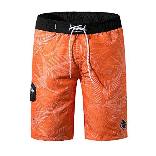 oolivupf Men's Swim Trunks Quick Dry Beach Shorts Swimsuit Casual Style (1902-ju-4XL) ()