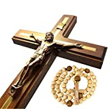 Handmade Wall Cross Wooden Catholic Wall Crucifix - Hanging Crosses for Home Decor