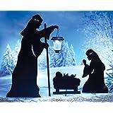 Nativity Shadow Stakes & Lantern - Set Of 3
