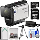 Sony Action Cam HDR-AS300 Wi-Fi HD Video Camera Camcorder with 32GB Card + Battery + Case + Tripod + Kit