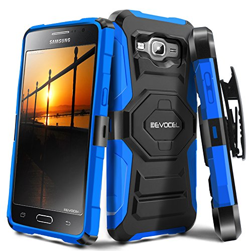 Galaxy J3 (2016) / Galaxy Express Prime / J3 V Case, Evocel [New Generation Series] Belt Clip Holster, Kickstand, Dual Layer for Samsung Galaxy J3 (Model No J320) / Galaxy - Swivel Phone New Cell