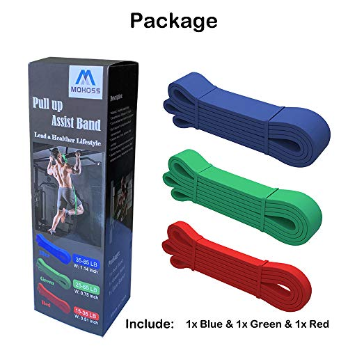 CoutureBridal Pull Up Assist Bands Set, Resistance Bands Workout Bands for Body Stretching, Strength Training, Powerlifting, Physical Therapy, Home Fitness