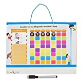 Magnetic Kids Chore, Reward and Responsibility Chart by Tenquest With 85 Magnetic Pcs, Dry Erase Marker and Fridge or Wall Hanger - 17