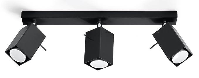 Bauhaus Foco (en negro, altura 15 cm) 3 Spot Salón Spot ...