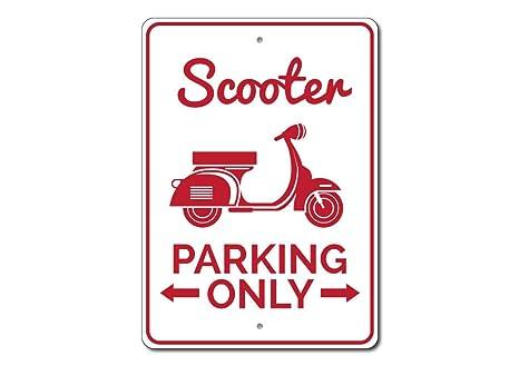 Amazon.com: Scooter señal de estacionar, Scooter señal ...