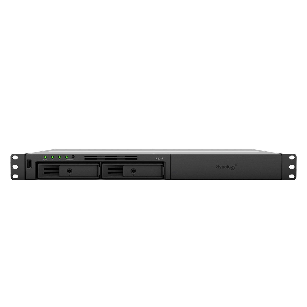 RackStation RS217 servidor de almacenamiento Ethernet Bastidor (1U) Negro NAS