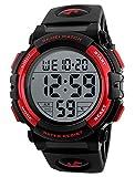 SKMEI Mens Sports Watch Outdoors Military Digital Wrist Watch Waterproof Multifunctional Watch-Blue