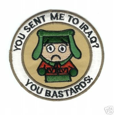 You Sent Me To Iraq? You Bastards! Patch - Veteran Owned (Iraq Patch)