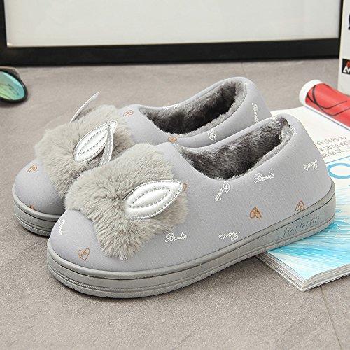 marbre coton oreilles natal mignon post Chaussons chat de Hiver Automne chaussures coton en doux wHqtZOp4