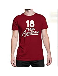 FaceYee 18 Years Old T-Shirts Being Awesome 18th Birthday Party Shirts