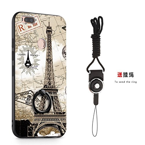 Cute Rotating Cases And Hard Protective Xiaomi TPU Design Dress Eiffel Ring Covers With Leaf case Mi5X Bumper 360 Color 5X Cartoon Tower For Degree For Xiaomi Holder Lanyard 7 Case Mi5X Mi qBrXwBH