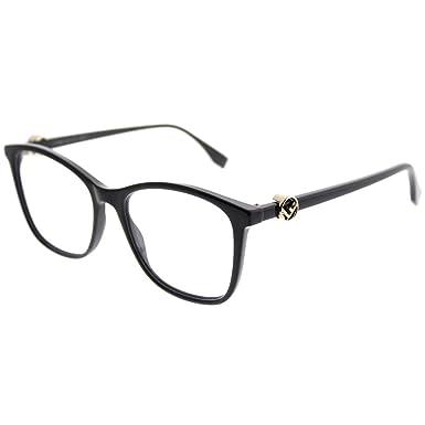 232c29d9c22 FENDI Eyeglasses FF 0300 0807 Black at Amazon Men s Clothing store