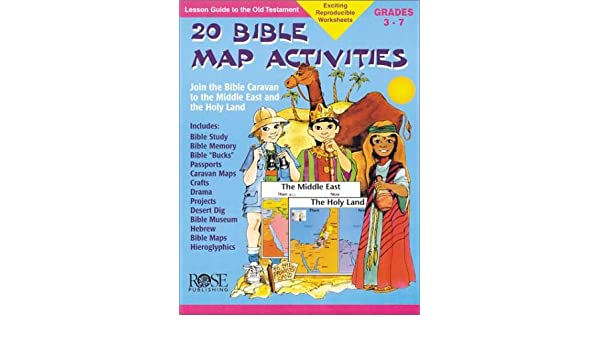 Middle East Map Activities.20 Bible Map Activities Make Learning Fun Rose Publishing