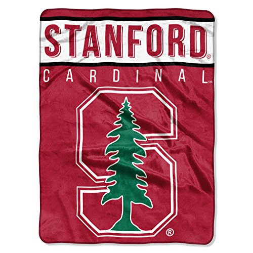 """The Northwest Company Officially Licensed NCAA Stanford Cardinal Basic Raschel Throw Blanket, 60"""" x 80"""", Red"""