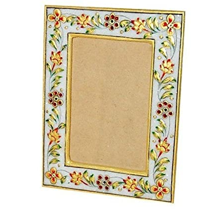 Buy Gold Plated Marble Photo Frame Online at Low Prices in India ...