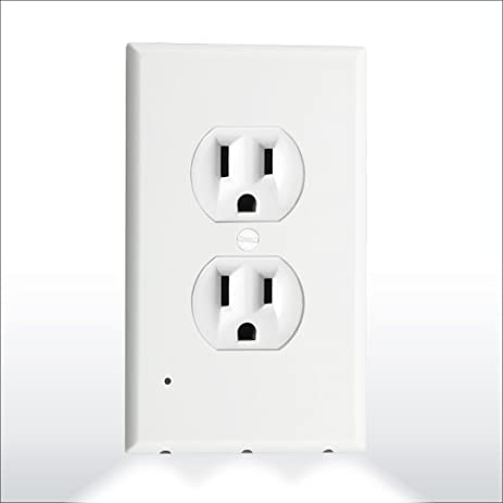 Plate outlet night light cover with built in led guide lights wall plate outlet night light cover with built in led guide lights night sensor set with mozeypictures Gallery