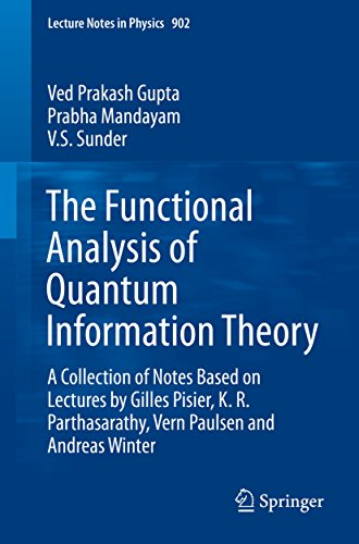 Download The Functional Analysis of Quantum Information Theory: A Collection of Notes Based on Lectures by Gilles Pisier, K. R. Parthasarathy, Vern Paulsen and Andreas Winter (Lecture Notes in Physics) Pdf