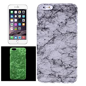 Fluorescent Silk Texture Plastic Case for iPhone 6(Black)