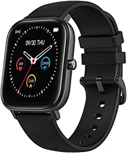 LIGE Smart Watch with Heart Rate Sleep Monitor Bluetooth Music Control All-Day Activity Step Counter Smart Bracelet Compatible with Android iOS Phones for Women Men,Black