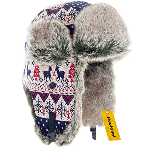 "Duolaimi Fashion Winter Hats for Adult (L:Head Circumference 23.3 "" or 59 CM, C)"