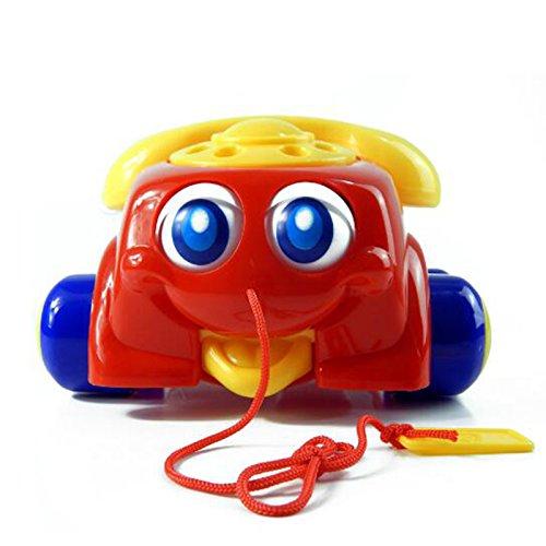 Ertans(TM) おかしいランダムな色音楽サウンディング玩具電話赤ちゃんのおもちゃ基本チャッターの電話のおもちゃを歩きます