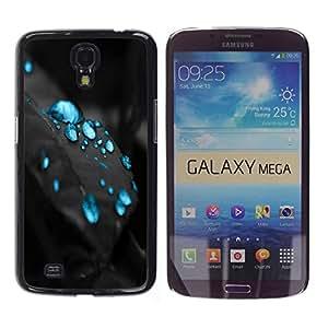 LECELL -- Funda protectora / Cubierta / Piel For Samsung Galaxy Mega 6.3 I9200 SGH-i527 -- Blue Drops --