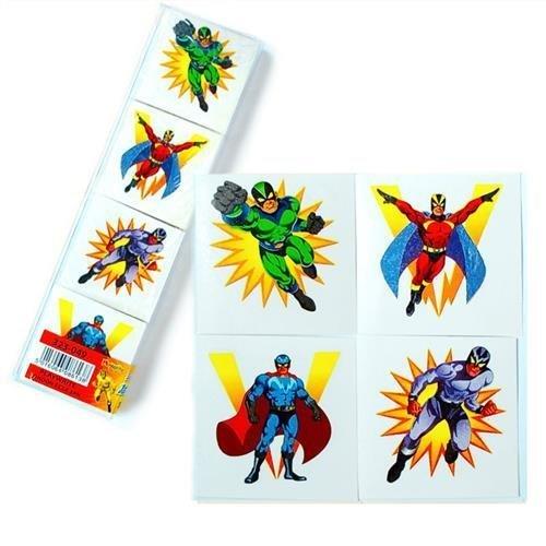 Superheld Tattoos Mitgebseltüte Füller, 36 geliefert Party Bags 2 Go