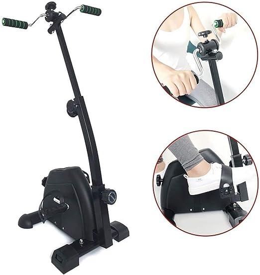 Hiyougen Bicicleta de Ejercicio de Pedal con Monitor LCD Resistencia Ajustable for recuperación de Brazos y Rodillas Ejercicio de rehabilitación Equipo de rehabilitación: Amazon.es: Hogar