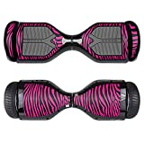 MightySkins Protective Vinyl Skin Decal for Swagtron T1 Hover Board Self Balancing Smart Scooter wrap cover sticker skins Pink Zebra