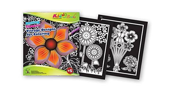 Quackduck libro para colorear Smiling Flowers - Vitrage ...