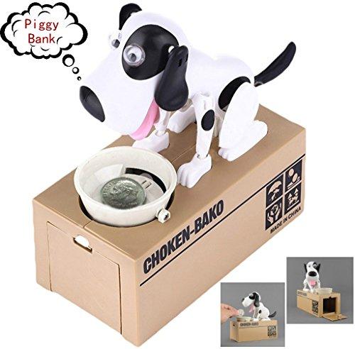 Mansalee Choken Bako Dog Piggy Bank Doggy Coin Bank Canine Money Box (White Dog)