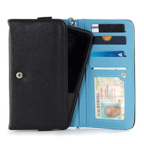 Maxwest Nitro 5.5,Maxwest Nitro 5.5S,Maxwest Nitro 6 PU Leather (XXL) Wristlet Phone Cases In Black (Maxwest Phone Case)
