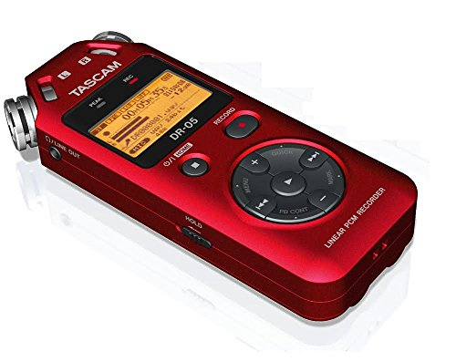 TASCAM DR-05R PORTABLE DIGITAL RECORDER-RED (VERSION 2)