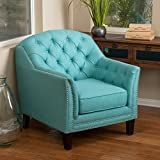 Ladera Teal Fabric Club Chair For Sale