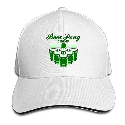 BEER PONG CHAMP Unisex Washed Retro Adjustable Cowboy Hat Baseball Cap