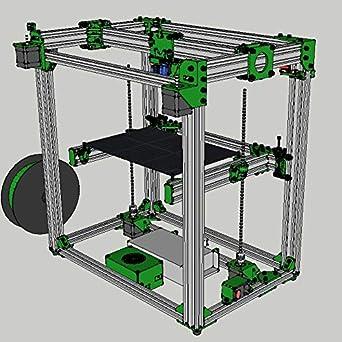 Amazon.com: D-Bot Core-XY - Impresora 3D con marco de ranura ...