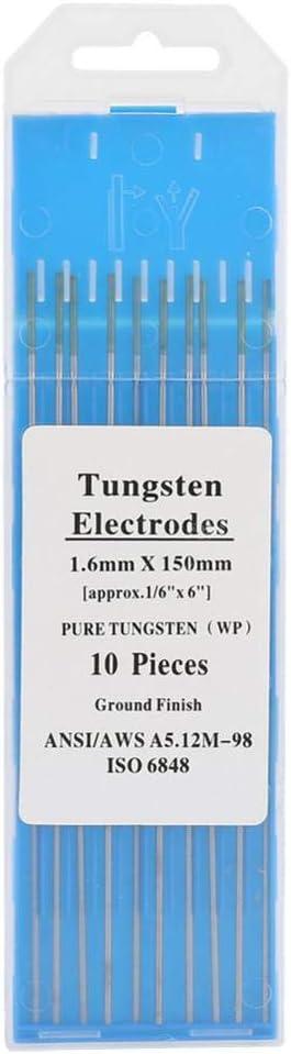 3.2mm*150mm 10 St/ücke Reine Wolframelektrodenstange Professionelle Gr/üne Spitze Tig Stick f/ür AC Schwei/ßger/ät WP
