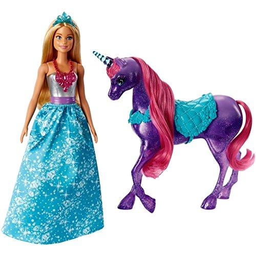 .Barbie Dreamtopia Princess Doll and Unicorn