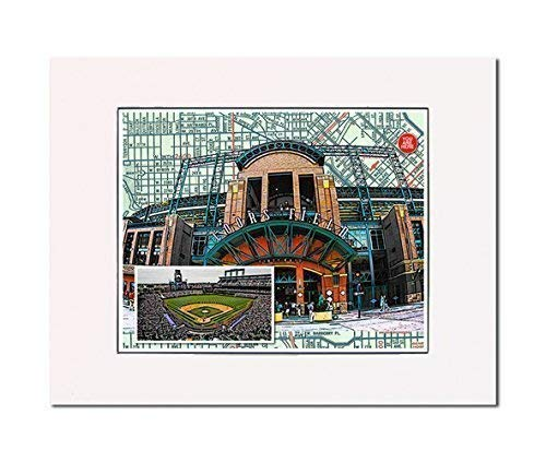 Baseball, Denver Rockies Coors Field art print Art Print. You Are Here. Gallery Quality. Matted at 14 inches x 11 inches and Ready to Frame.