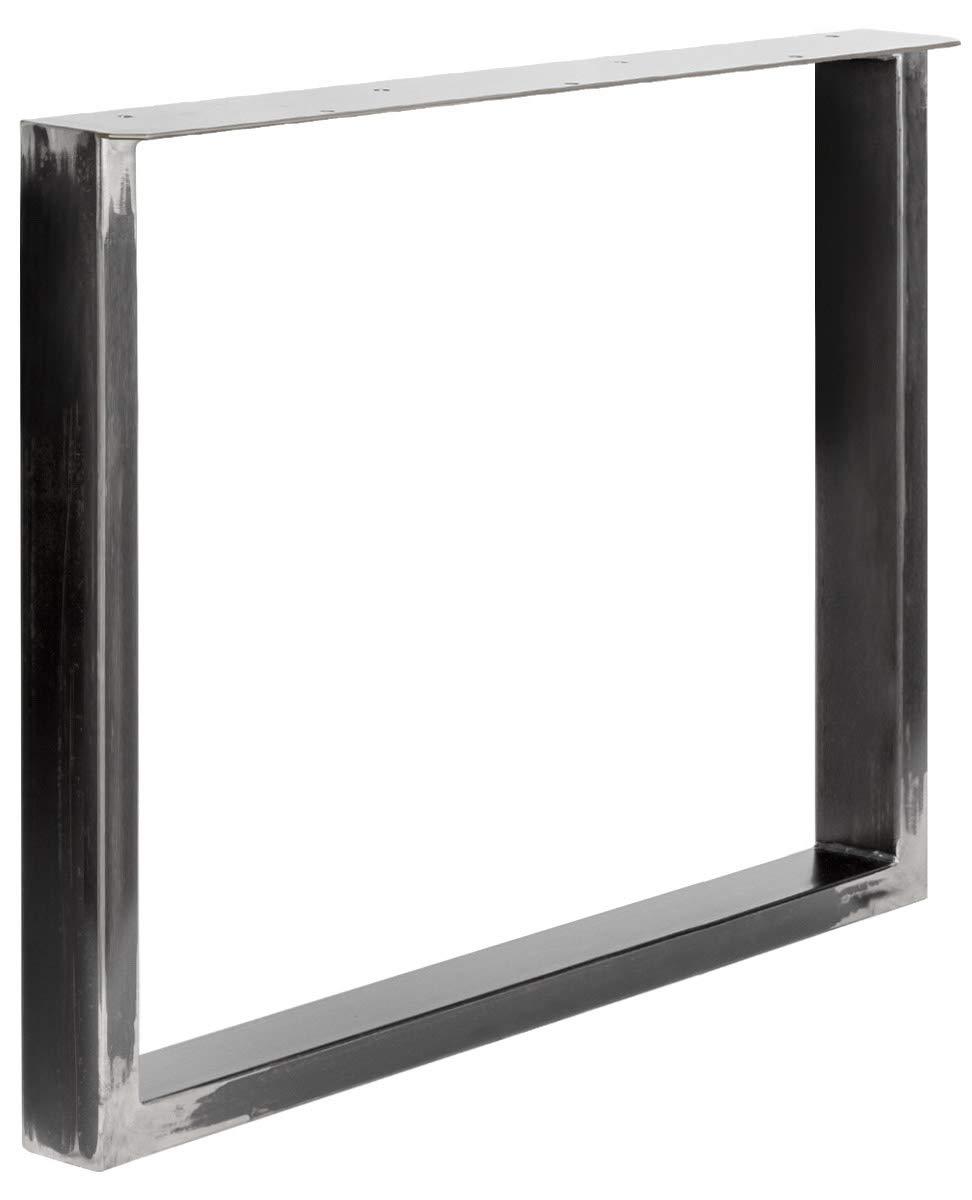 HLT-02-B-EE-7016 HOLZBRINK 1x Pied de Table en Profil/és dAcier 80x40 mm et Plat 3 mm Gris Anthracite Cadre 70x72 cm