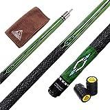 CUESOUL 57 2-Piece Hardwood Canadian Pool Cue Billiard Stick with Irish Wrap 21oz