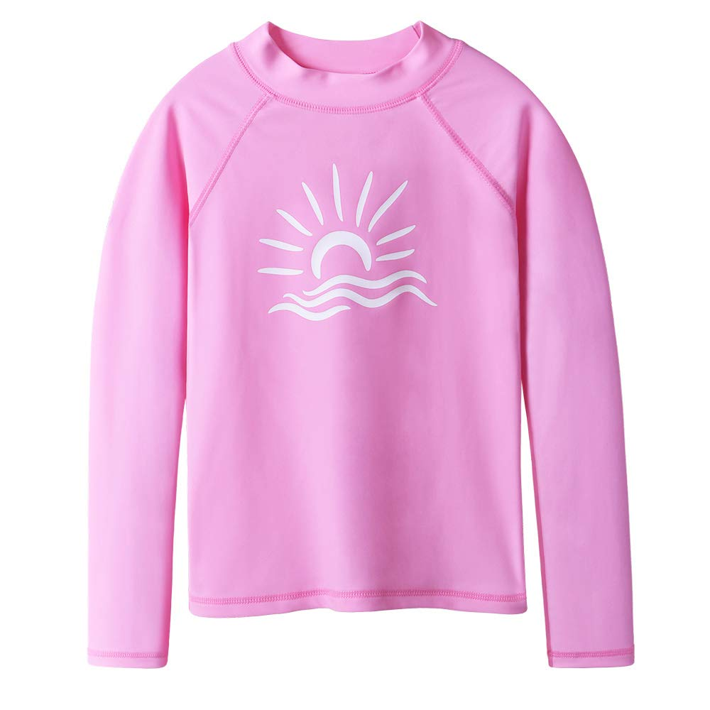 TFJH E Long Sleeve T-Shirt for Girl Rashguard