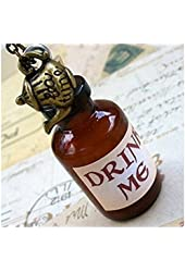 Alice in Wonderland Tea Party necklace-Drink me bottle