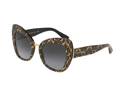 Dolce & Gabbana 0DG4319 Gafas de Sol, Damasco Glitter Black ...