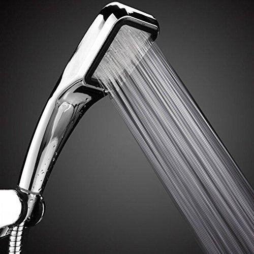 365Cor(TM) ShowerHead 300 Hole Water Saving Square ABS With Chrome Plated Bathroom Rainfall Shower Nozzle Aerator High Pressure Shower Head (Loure Bath)