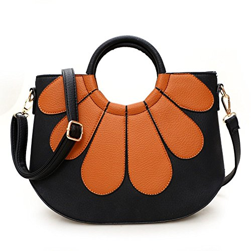 Womens à Coutures Main Bandoulière Sac PU BAILIANG Bandoulière ​​sac Mode à Yellowbrown 1zqdxYw