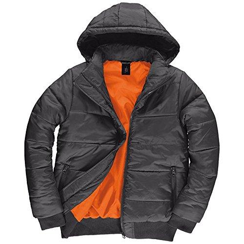 B&C Collection Mens Superhood Jacket Black/Cobalt Blue S